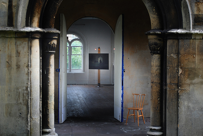 Art Posts help an artist exhibit her work at the atmospheric Walcot Chapel in Bath