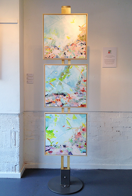 A solo exhibition for an artist at Hamilton House, Bristol with Art Posts